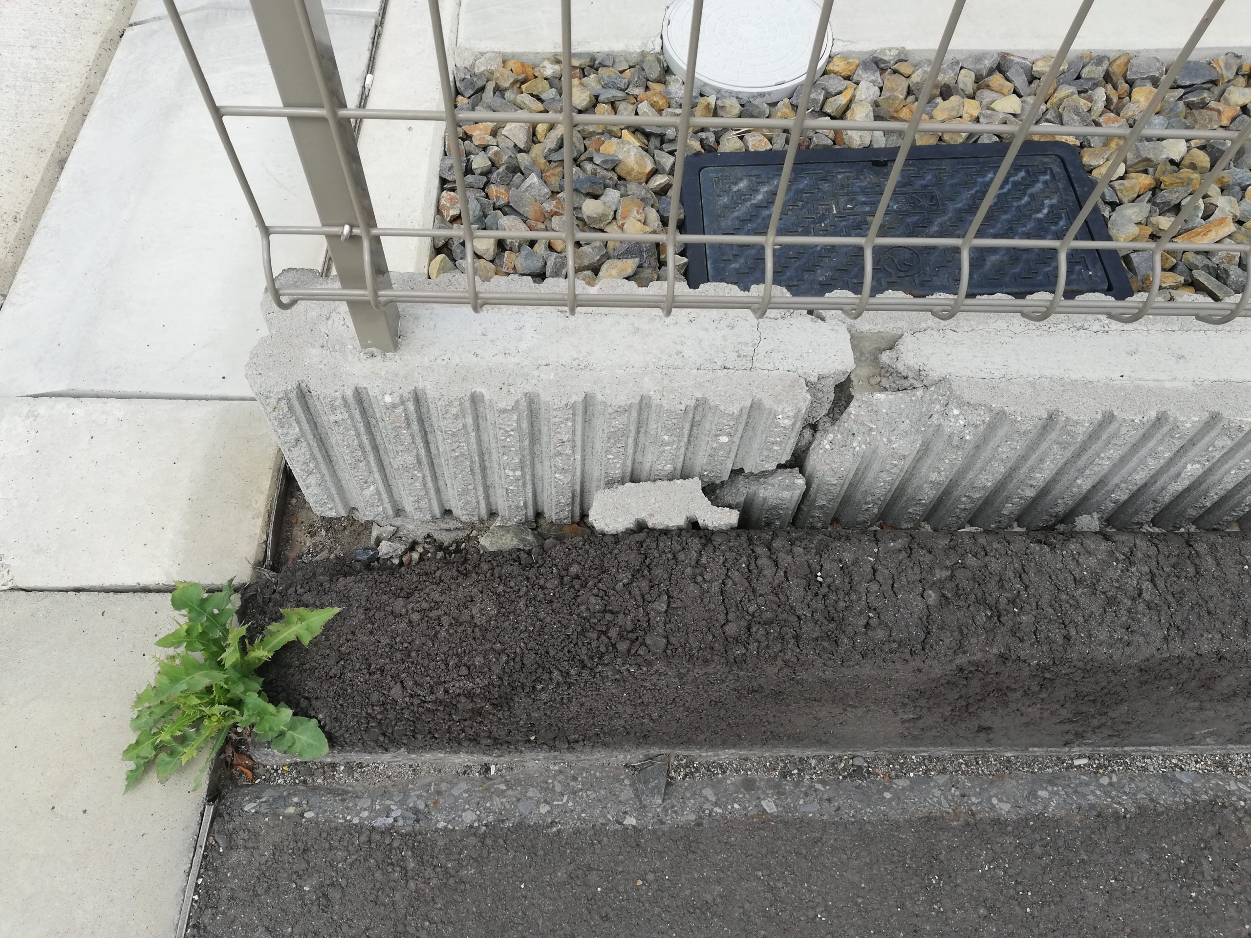 駐車場のブロック