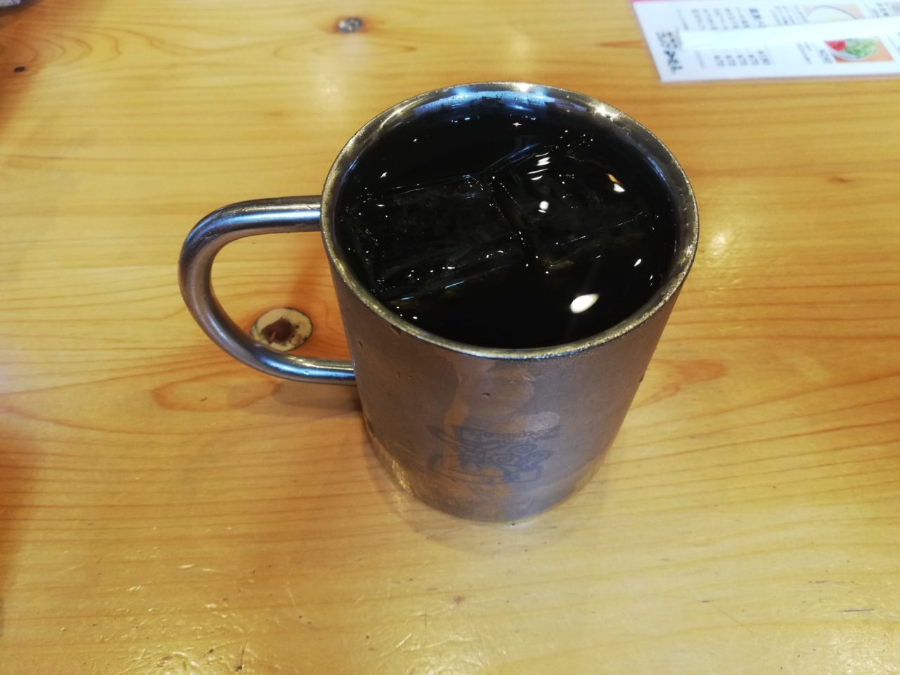 コメダ珈琲店のアイスコーヒー