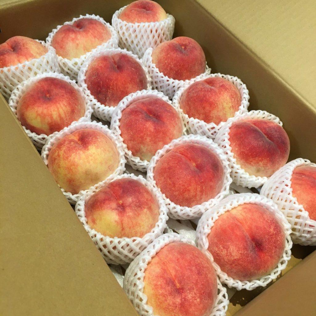 頂き物の桃
