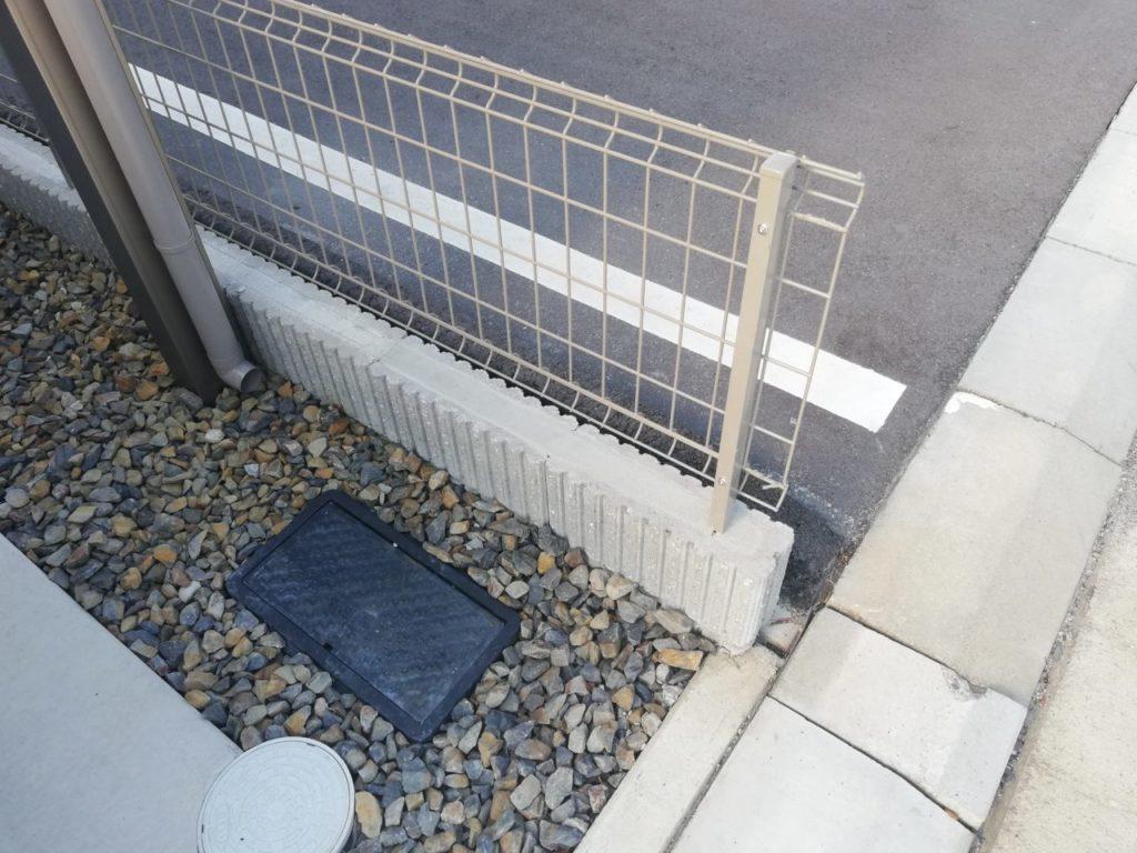 駐車場ブロックの修復完了