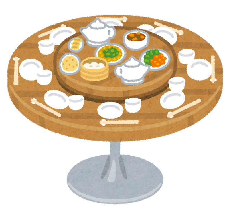 中国料理のテーブル
