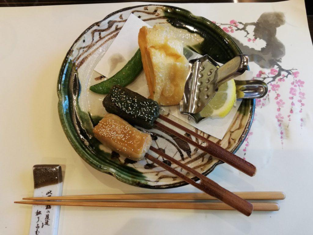 梅の花の和食コース料理
