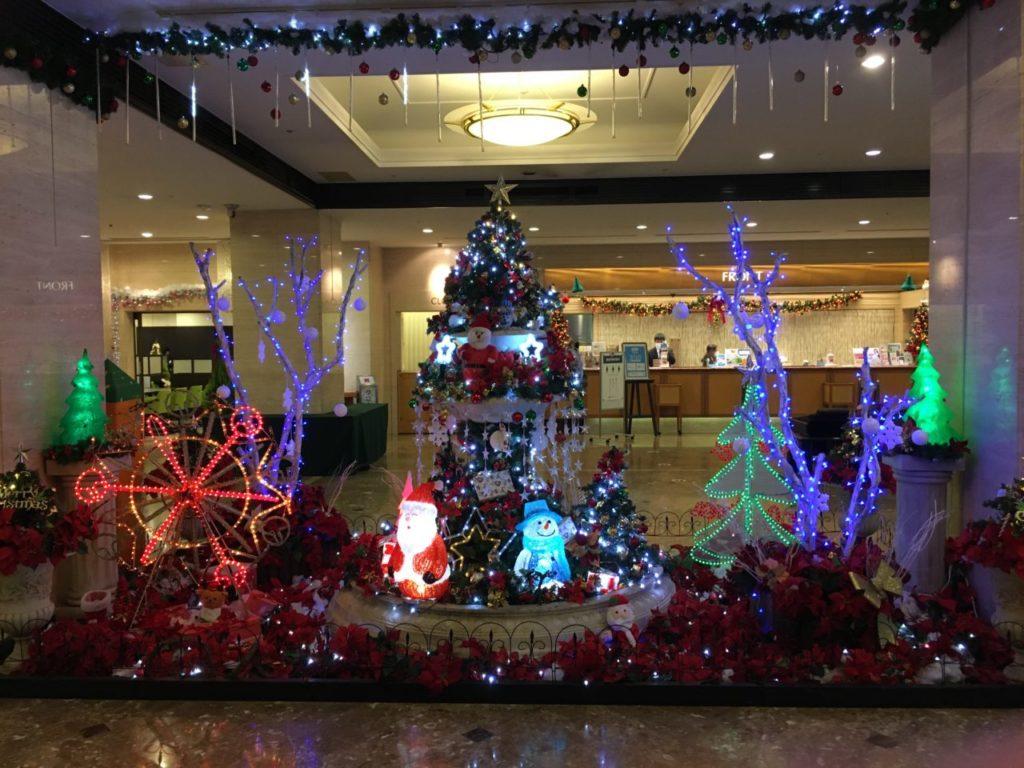 名古屋ガーデンパレスのクリスマスツリー