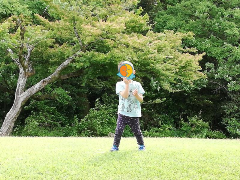 愛知県森林公園でテント張る